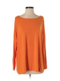 Details About Piko Women Orange Long Sleeve T Shirt Sm
