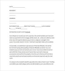 Past Due Rent Letter Template Gdyinglun Com Ksdharshan Co