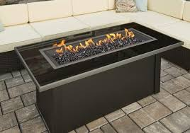 outdoor fire pit greatroom linear monte carlo table black glass top black fire pit o10