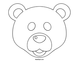 Small Picture Printable Polar Bear Mask to Color January Preschool Winter