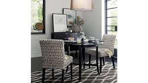 halo ebony round dining table with 60 glass top reviews crate and barrel