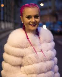 Pigtails Hair Style braids pink hair hairstyle pigtails copnky fox fur fur coat 2146 by wearticles.com