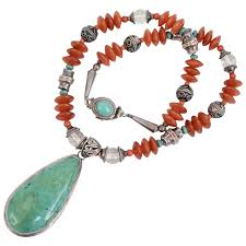 sterling silver carnelian turquoise
