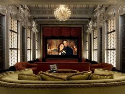 home theater art. art-deco home theater with red curtains | hgtvremodels.com art