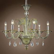 joshua marshal murano design 6 light 29 chandelier from