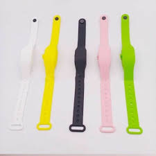 5PCS Portable <b>Silicone Bracelet Wristband</b> Hand Soap Dispenser ...