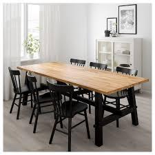 Dining table Steel Ikea Skogsta Dining Table Ikea