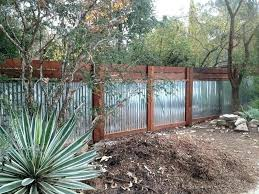 sheet metal fence. Exellent Fence Corrugated Steel Fence Metal And Wood Sheet  Landscape Transitional With   With Sheet Metal Fence E