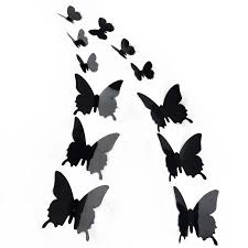 3d Butterfly Wall Decor Xmas 12pc 3d Diy Butterfly Wall Sticker Butterfly Home Decoration