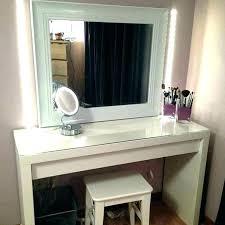 Vanities Bedroom Vanity Set With Lights Black Mirror For Bedrooms ...