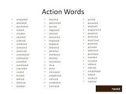 Action Verbs Words Statement Beauty Picturesque Wwwpicturesboss Magnificent Action Verbs Resume