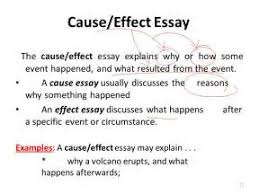 cause and effect example essays co cause