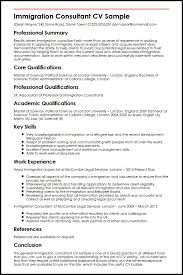 Consultant Cv Immigration Consultant Cv Sample Myperfectcv
