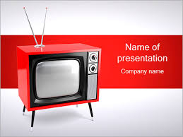 tv powerpoint templates old red tv powerpoint template backgrounds id 0000001353