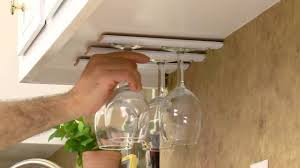 Build Your Own DIY Wine Glass Rack for Kitchen Cabinets
