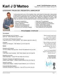 Announcer Sample Resumes Presenter Resume Examples 24 httptopresume242424 1