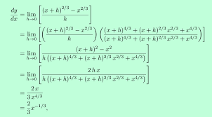 this example should clearly show that for fractional exponents using the power rule is far more convenient than resort to the definition of the
