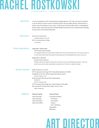 Art Director Resume Creative Cv Examples Templates Format Template