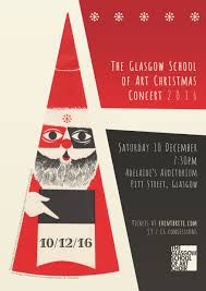 Christmas Concert Poster Poster Unveiled For The Glasgow School Of Art Christmas Concert 2016