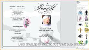 Free Funeral Program Template Word Templates Downloads Picture