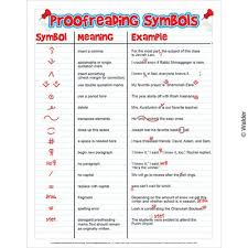 Proofreading Symbols Chart Proofreading Symbols Walder Education