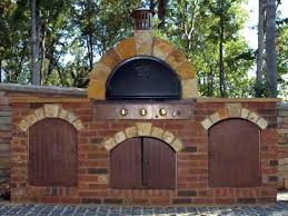 outdoor pizza oven built from kit by diy hosts
