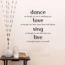Us 662 5 Offlife Wörter Wand Aufkleber Von Einrichtungs Dekorative Dance Aufkleber Liebe Singen Live Englisch Sprüche Tapete Kinder Zimmer 9313