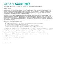 General Cover Letter For Office Manager Granitestateartsmarket Com