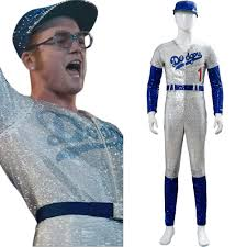 Rocketman Elton John Dodgers Baseball <b>Uniform Cosplay Costume</b> ...