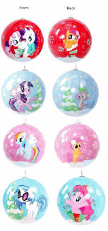 My Little Pony Holiday 4 Pack Ball Ornaments Set