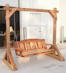 Woodworking Plans For This Free Standing Porch Swing Frame