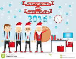 Christmas Set Santa Claus Vector Santa Claus Office Santa