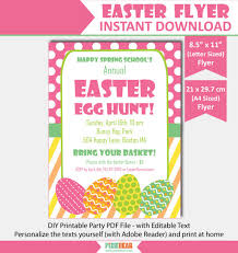 easter egg hunt template easter flyer easter egg hunt flyer easter party flyer template