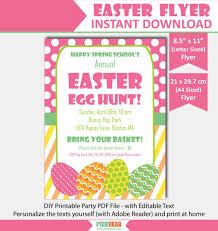 easter egg hunt template easter flyer easter egg hunt flyer easter party flyer template