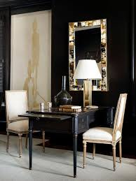 office desk mirror. Black And Gold Office With Shared French Desk Mirror L