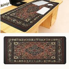 mairuige free 900 400 2mm persian rug mat large overlock mousepad retro style carpet mouse pad red can be customized