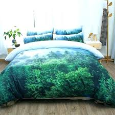 king size duvet sets wheat field snow mountain tree forest scenic bedding set twin queen cover