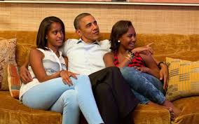 it s men s responsibility to fight sexism too president obama s president obama his daughters sasha and a