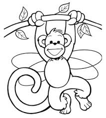 Small Picture Monkey Coloring Pages kids world