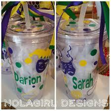 Decorating Plastic Tumblers Mardi Gras Tumbler Etsy
