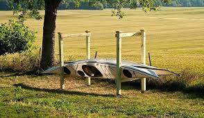 wooden kayak rack wooden outdoor kayak racks