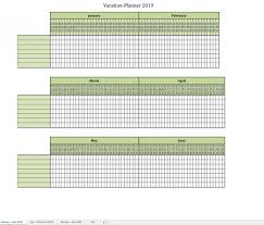 Excel Employee Vacation Schedule Template Free Weekly Work