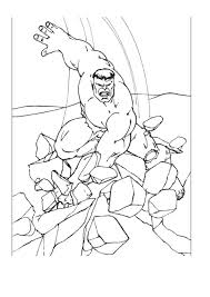 simple free hulk coloring page to print and color