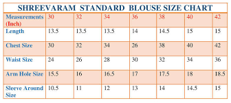 Readymade Blouse Size Chart Indian Blouse Measurements Chart Foto Blouse And Pocket