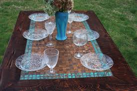 dining room table with tiles. dining table patinaed copper mosaic tile by natureinspiredcrafts room with tiles m