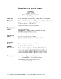 Resume Templates Word Freeownload Resumes Job Specific Top