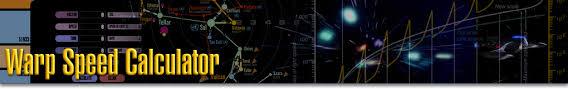 Warp Speed Chart Warp Speed Calculator Star Trek Minutiae