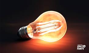 3d Light Bulb Artstation Light Bulb 3d Model Dave 3d