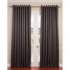 semi opaque anthracite grey grommet doublewide blackout curtain 100 in w
