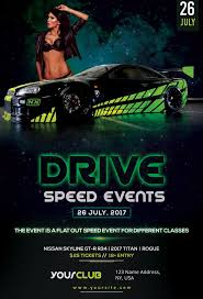 Flyer Samples For An Event Interesting Speed Car Racing Event Free Flyer Template For Sport And Racing Events